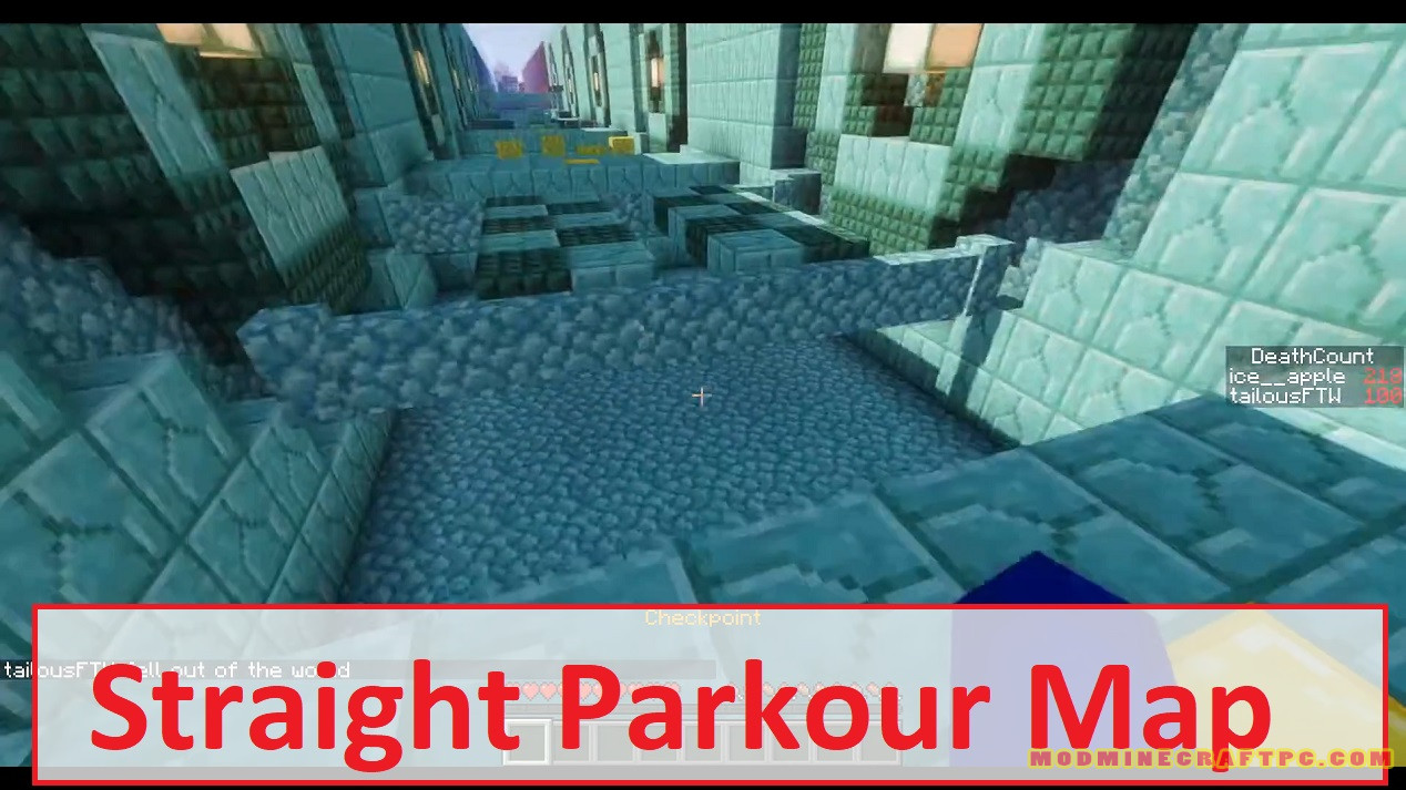 Straight Parkour Map