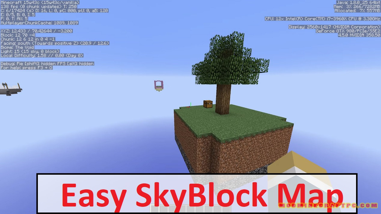 Easy SkyBlock Map
