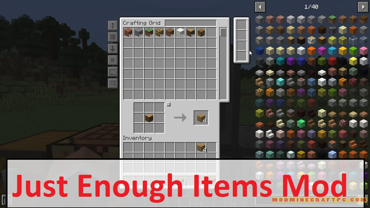 Just Enough Items Mod