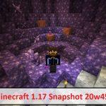 minecraft 1 17 snapshot 20w45a 0